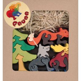 FAUNA Dřevěné puzzle z masivu  Les (mix)