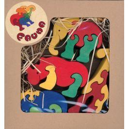 FAUNA Dřevěné puzzle z masivu  Zoo (mix)