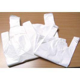 NO NAME Igelitová taška, košilková, bílá, 32x8x50 cm