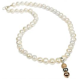 JwL Luxury Pearls Náhrdelník z bílých perel s přívěskem JL0056