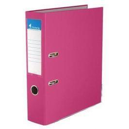 VICTORIA Pákový pořadač Basic, růžová, 75 mm, A4, s ochranným spodním kováním, PP/karto