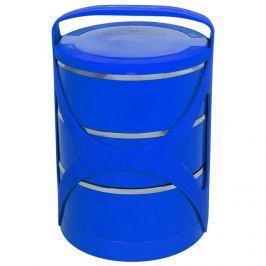 BLAUMANN Jídlonosič třípatrový modrý