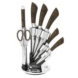 BERLINGERHAUS Sada nožů ve stojanu nerez Forest Line 8 ks