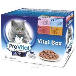 PreVital kapsa kočka 12-pack100g-4 příchutě v želé-14049-!CZ!