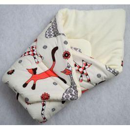 Elfan rychlozavinovačka bavlna -kočičky+bílý fleece