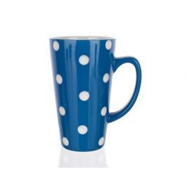 BANQUET Hrnek keramický vysoký 450 ml, modrý s puntíky