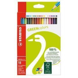 STABILO Barevné pastelky GreenColours,18ks, šestihranné,