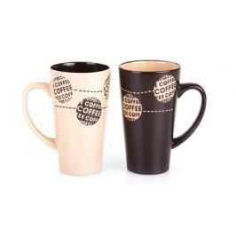 BANQUET Hrnek keramický vysoký COFFE 450 ml, assort