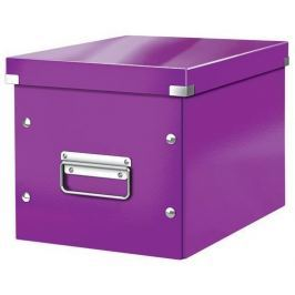 LEITZ Krabice Click & Store, fialová, čtvercová, lesklá, středně velká,