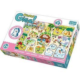 TREFL Puzzle ZOO GIGANTIC 12 dílků + dřevěná figurka