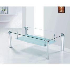 Tempo Kondela Konferenční stolek, sklo/stříbrný, RICKY