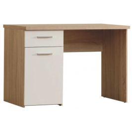 Tempo Kondela PC stůl, dub/bílá, WINIE WNB935