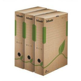 ESSELTE Archivační krabice Eco, přírodní hnědá, 80 mm, A4, recyklovaný karton,