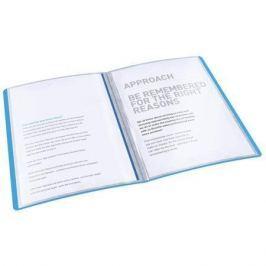 ESSELTE Katalogová kniha Vivida, měkká, modrá, A4, 40 kapes,