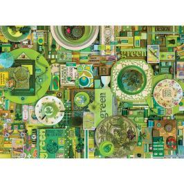 COBBLE HILL Puzzle  51864 Barvy duhy: Zelená 1000 dílků