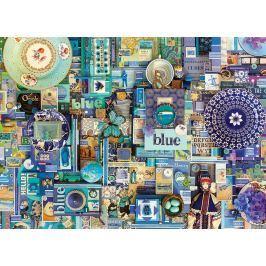 COBBLE HILL Puzzle  51865 Barvy duhy: Modrá 1000 dílků