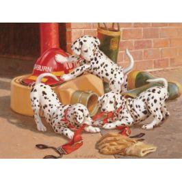 COBBLE HILL Rodinné puzzle  54577J. Lamb: Dalmatini v hasičské stanici 400 dílků