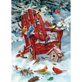 COBBLE HILL Puzzle  57168 Ptáci z Adirondackého pohoří v zimě 1000 dílků