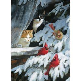 COBBLE HILL Puzzle  57171 P. C. Weirs: Číhající kočky 1000 dílků