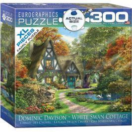 EUROGRAPHICS Puzzle Chata s bílými labutěmi XL 300 dílků