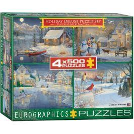 EUROGRAPHICS Puzzle Zimní kolekce 4x500 dílků