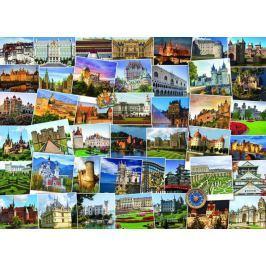 EUROGRAPHICS Puzzle Světoběžník - Hrady a zámky 1000 dílků
