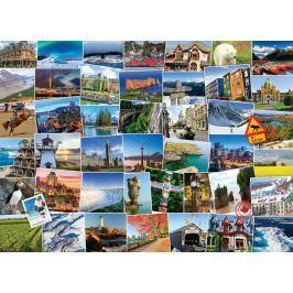 EUROGRAPHICS Puzzle Světoběžník - Kanada 1000 dílků