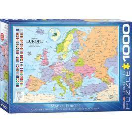 EUROGRAPHICS Puzzle Mapa Evropy 1000 dílků