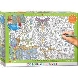EUROGRAPHICS Color me puzzle  30 dílků : Moudrá sova