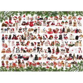 EUROGRAPHICS Puzzle Vánoční psi 1000 dílků