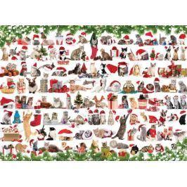 EUROGRAPHICS Puzzle Vánoční kočky 1000 dílků