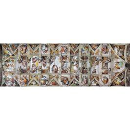 EUROGRAPHICS Panoramatické puzzle Strop Sixtinské kaple 1000 dílků