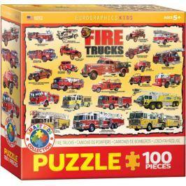 EUROGRAPHICS Puzzle Hasičská auta 100 dílků