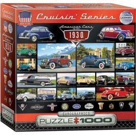 EUROGRAPHICS Puzzle Americká auta z roku 1930, 1000 dílků