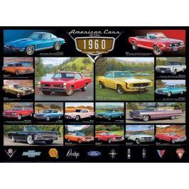 EUROGRAPHICS Puzzle Americká auta z roku 1960, 1000 dílků