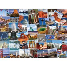 EUROGRAPHICS Puzzle Světoběžník - USA 1000 dílků