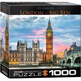 EUROGRAPHICS Puzzle Londýn - Big Ben 1000 dílků