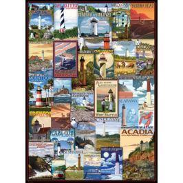 EUROGRAPHICS Puzzle Staré plakáty majáků 1000 dílků