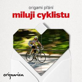 Origamica Origami přání - Miluji cyklistu