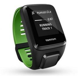 Tomtom GPS hodinky  Runner 3 Cardio + Music + Bluetooth sluchátka (S), černá/zele