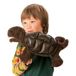 FOLKMANIS PUPPETS Mládě želvy sloní (pohyblivý plyšák na ruku),