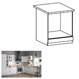 Tempo Kondela Spodní skříňka na vestavěné spotřebiče D60ZK, bílá, PROVANCE