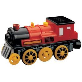 Vláček vláčkodráhy Maxim Elektrická lokomotiva červená