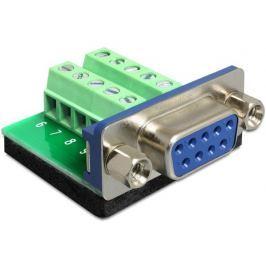 DeLock Adaptér D-Sub 9 samice > svorkovnice 10 pinů