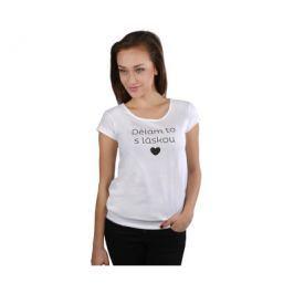 VIVANTIS Dámské bílé tričko Dělám to s láskou, S