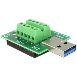 DeLock adaptér USB 3.0-A samec > Terminal Block 10 Pin