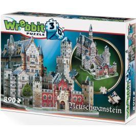 WREBBIT 3D puzzle  890 dílků Zámek Neuschwanstein 3D