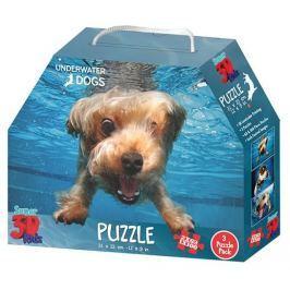 PRIME 3D Puzzle Potápějící se psi 3D 3v1