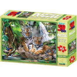 PRIME 3D Puzzle Tygři 3D 63 dílků