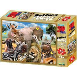 PRIME 3D Puzzle Selfie z Afriky 3D 63 dílků